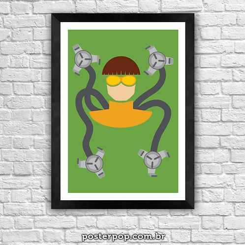 Poster Doutor Octopus Minimalista
