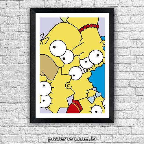 Quadro Poster Simpsons Olhando