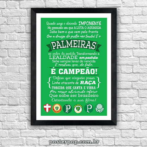 Poster Hino do Palmeiras