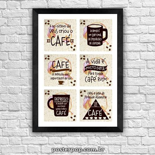 poster frases com cafe