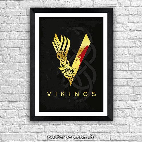 Quadro Poster - Vikings - Gold 2017