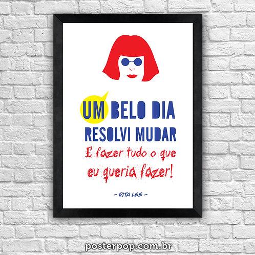 """Poster Rita Lee """"Um Belo Dia"""""""
