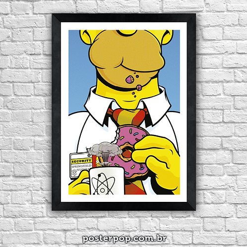 Poster Homer Simpson - Atomic Coffee