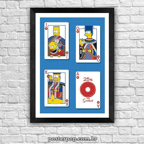 Poster Simpsons A3 Impressão digital