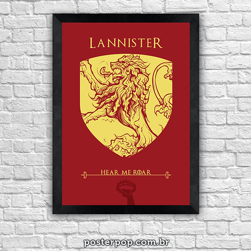 Poster Game Of Thrones - Lannister House