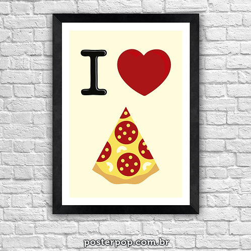 Poster I Love Pizza 2