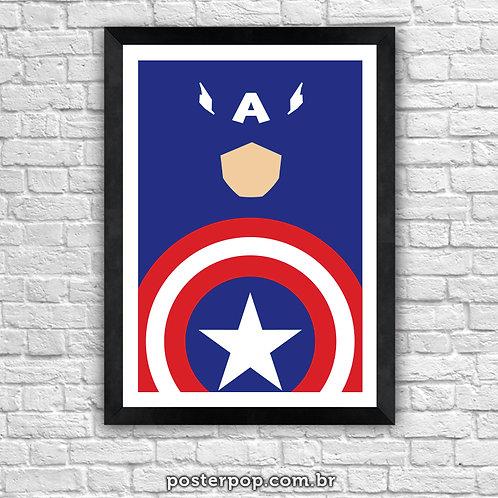 Poster Capitão América Minimalista