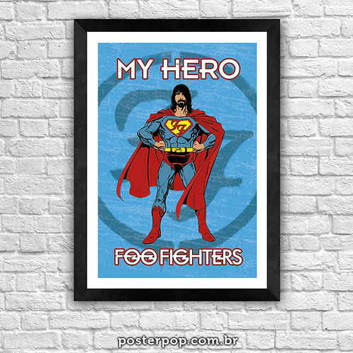"Poster Foo Fighters ""My Hero"""