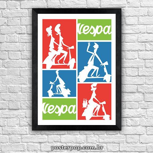 """Poster Vespa """"ciao bella"""""""