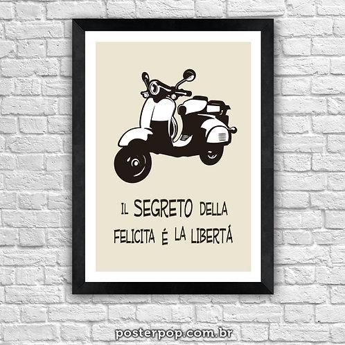 "Poster Vespa ""La Libertá"""