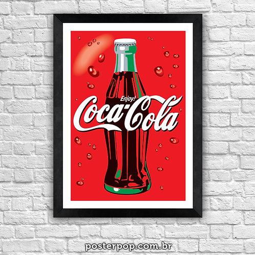 Poster Coca Cola na Garrafa
