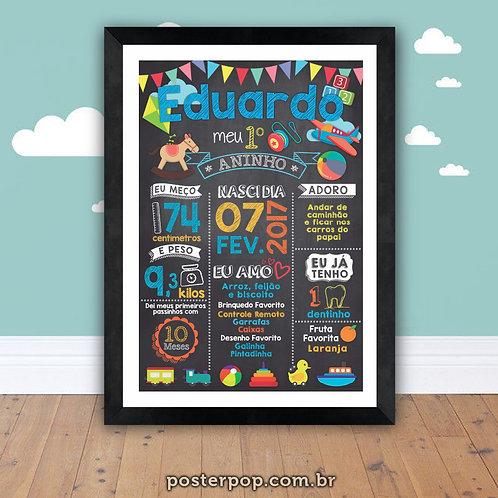 Poster Chalkboard AniversárioToys