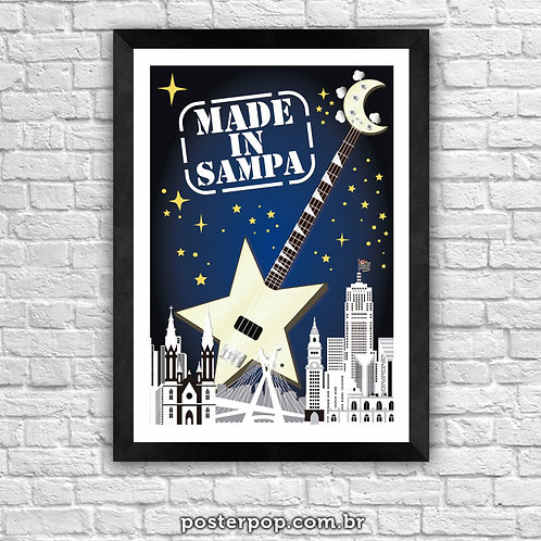 "Poster MADE IN BRAZIL ""Made In Sampa"""