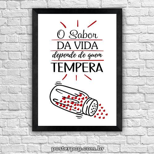 Poster O Sabor da Vida Depende de Quem Tempera