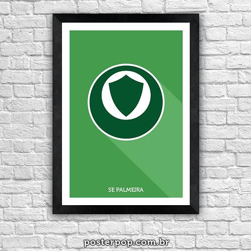 Poster Brasão Palmeiras Minimalista