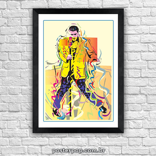 "Poster Elvis Presley ""Rei do Rock"""