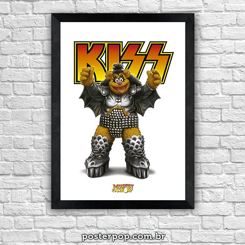 """Poster """"""""Kiss  - Muppets Rock Fozzie"""""""