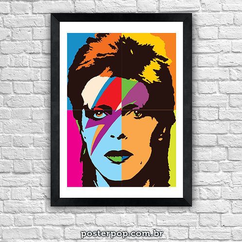 "Poster David Bowie ""Aladdin Sane"" Tecnicolor"