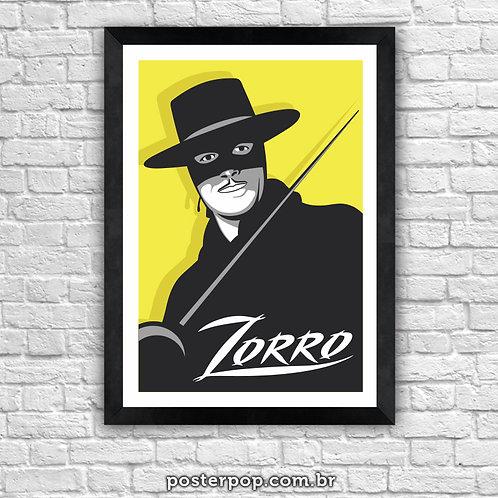 Poster Zorro Minimalista