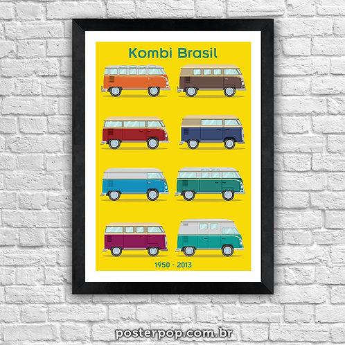 Poster Kombi Brasil