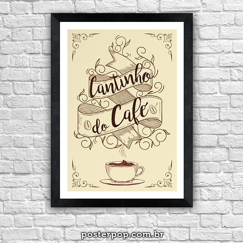 Poster Cantinho do Café