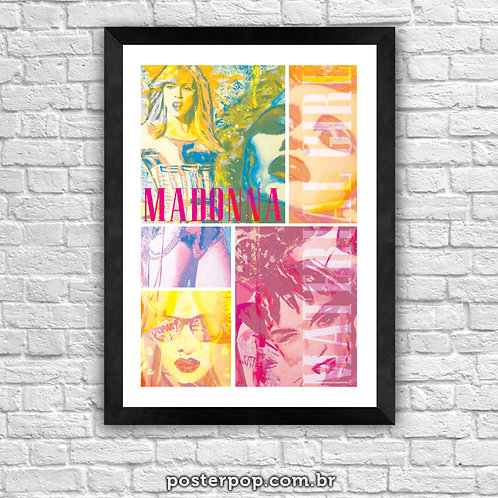 """Poster Madonna """"Material Girl"""""""