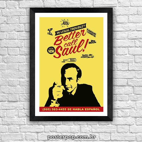 Poster Better Cal Saul Amarelo