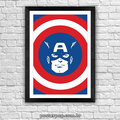 Poster Capitão América Retrô