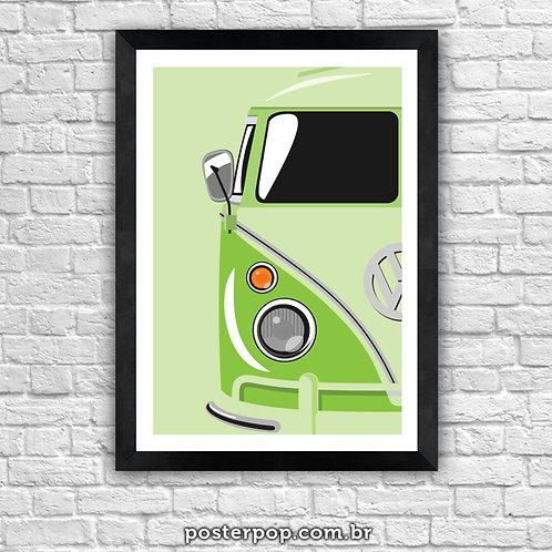 "Poster Kombi ""Tudo Verde"""