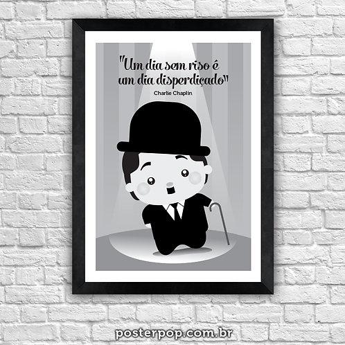 Poster Charles Chaplin Frase