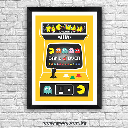 Poster PAC MAN Game Over