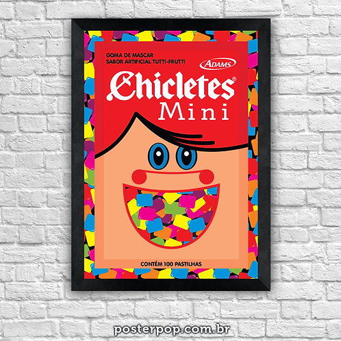 Poster Mini Chicletes Over Color