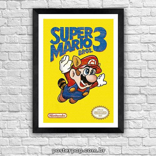 Poster Super Mário Bros. 3 Vintage