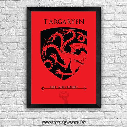 Poster Game Of Thrones - Targaryen House