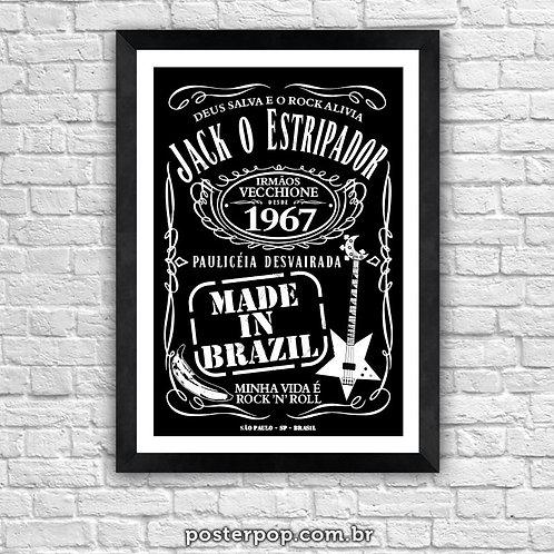 """Poster MADE IN BRAZIL """" Jack o Estripador"""""""