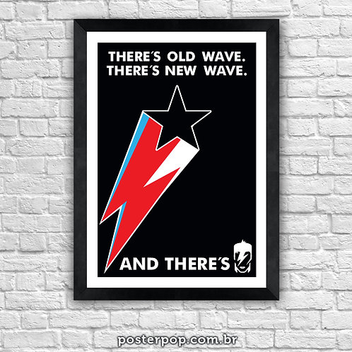 """Poster """"Bowie Starbolt Old New"""""""