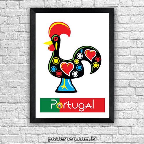 Poster Galo de Barcelos - Portugal