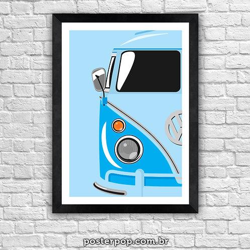 "Poster Kombi ""Tudo Azul"""