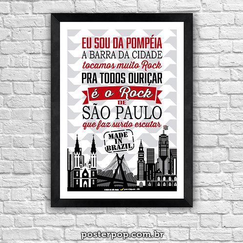 "Poster MADE IN BRAZIL "" Rock de São Paulo"""