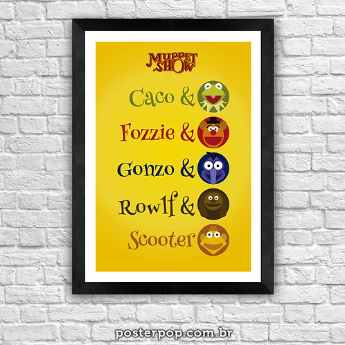 """Poster """"Caco & Fozzie & Gonzo & Rowlf & Scooter"""""""
