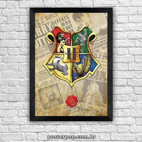 """Poster """"Brasão de Hogwarts"""""""