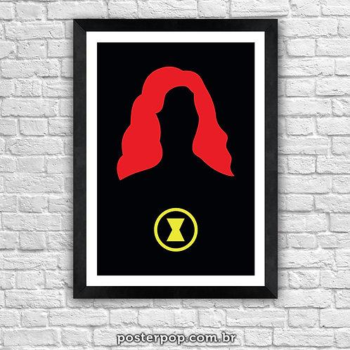 Poster Minimalista Viuva Negra