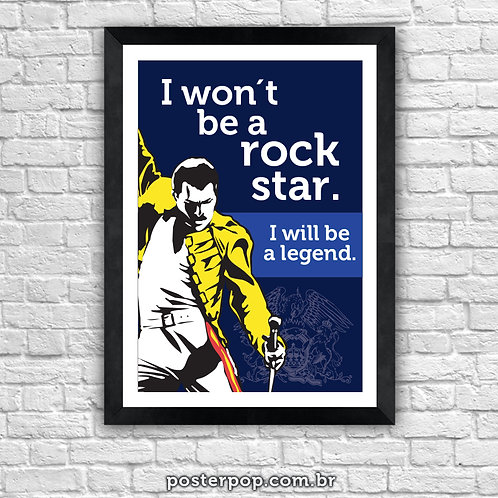 Poster Freddie Mercury Rock Legend Queen