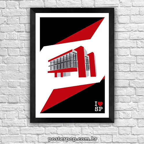 quadro poster I Love SP MASP