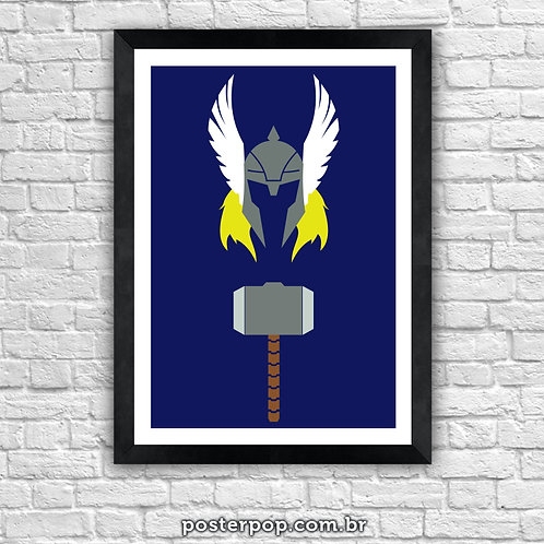 Poster Thor - o Deus do Trovão Minimalista