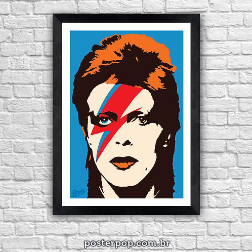 "Poster David Bowie ""Aladdin Sane"""