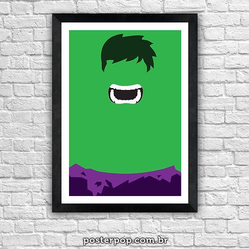 Poster Hulk Minimalista