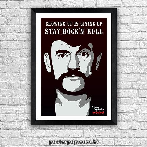 """Poster """"Lemmy - Stay Rock´n Roll"""""""