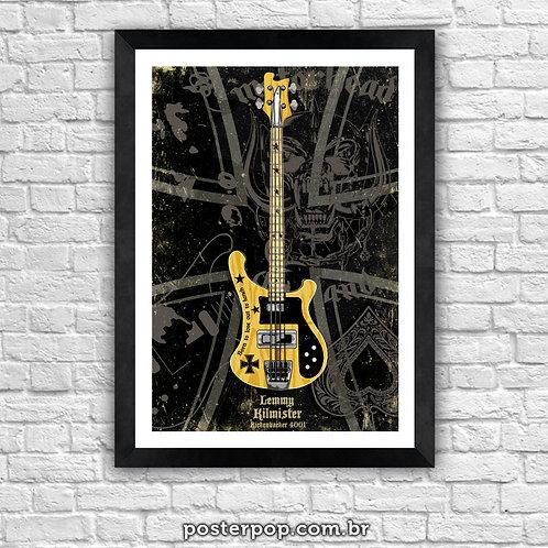 Poster Motorhead Lemmy 4001 Rickenbacker