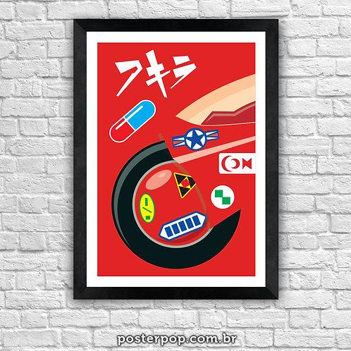 """Poster """"Akira Red"""""""